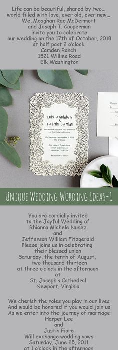 Wedding Invitation Invitation wording, Weddings and Wedding card - new sample letter invitation religious event