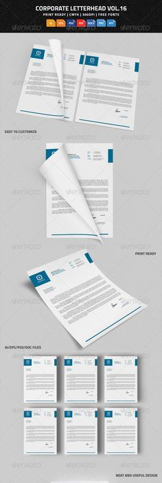 Corporate Letterhead Vol With Ms Word DocDocx  Word Doc