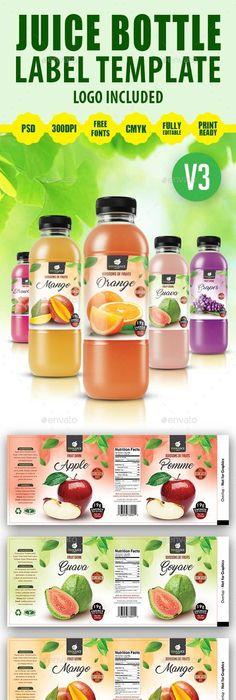 Juice Bottle Label Template  Label Templates Juice Bottles And Juice