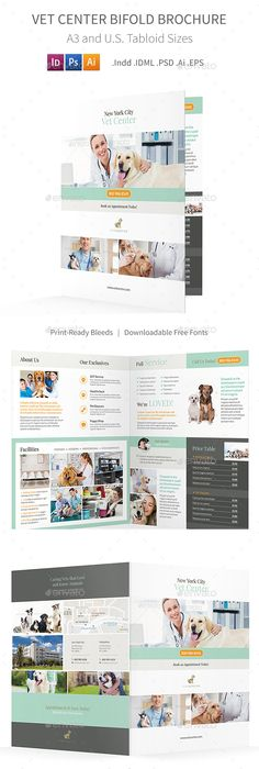 Veterinary Clinic Tri Fold Brochure Template HttpWwwDlayouts