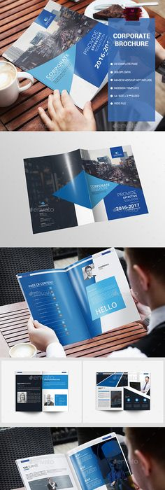 Modern Brochure 22 Pages Template Indesign Indd Brochure Templates