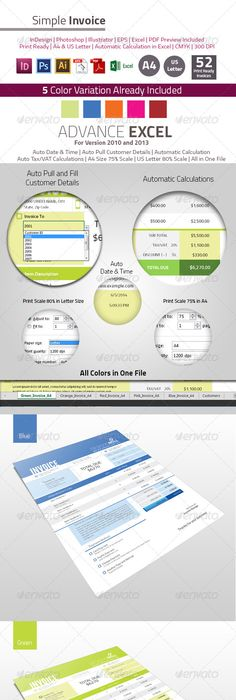 Corporate Invoice Bundle Stationery templates, Template and Font logo