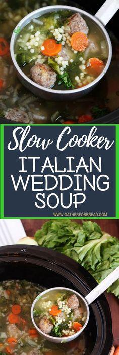 Crockpot Soup Recipes Perfect for Fall | Wedding soup, Italian ...