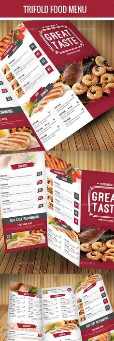 Trifold Pizza Menu  Flyer  Pizza Menu Pizzas And Menu