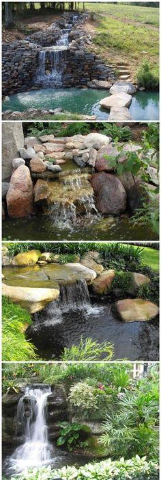 Build a Backyard Waterfall and Stream Fuentes, Cascadas y Jardín