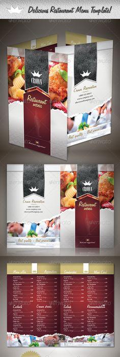 Luxury Restaurant Menu Design Template  Restaurant Menu Design