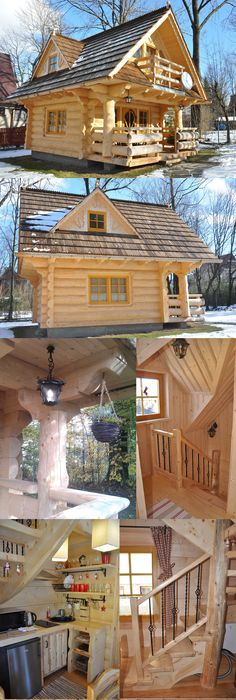 The Ultimate Tiny House! About 500 Sq. Ft. Log Kit Shipped To Your