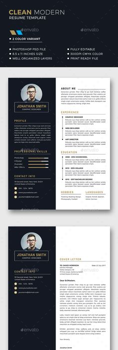 Sample Two Page Resume Two Page Resume Template  Resume Builder  Cv Template  Free Cover .