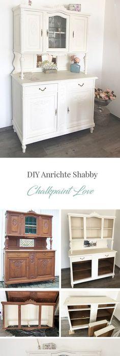 Wohnzimmer Schrank mit Kreidefarbe gestrichen Einrichten und