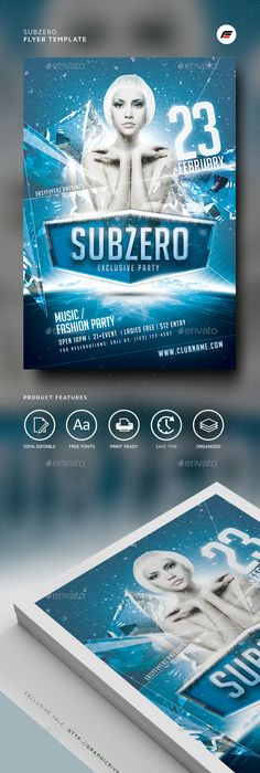 Winter Flyer Psd templates, Template and Flyer template
