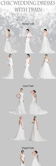 Chic Wedding Dresses With Train Choose One Now Weddingdress