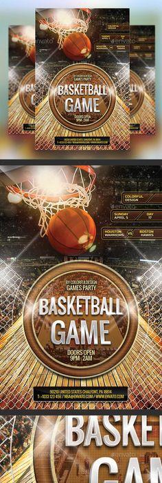 Basketball Flyer Template By Easybrandz Via Behance Work Inspired