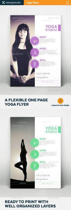 Yoga Flyer Design  Yoga Brochures And Flyer Template