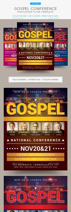 Leadership Conference Church Flyer Template  Church