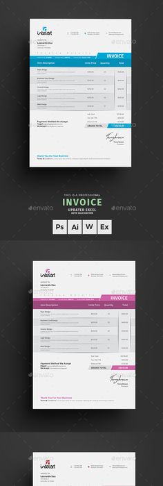 Invoice Template Proposal Templates And Ai Illustrator
