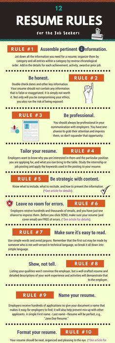 infographic  How to match your resume yo the job you want - resume for job