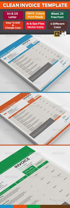Modern Invoice Template Template Proposal Templates And Corporate