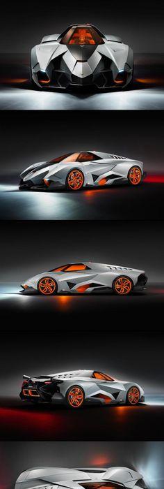 The Lamborghini Egoista Aka The Spaceship Coupe. This Looks Likes Itu0027s  About To Go Warp