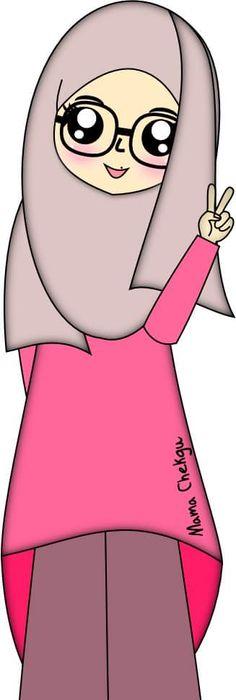 Gambar Kartun Wanita Karier Muslimah Galeri Keren