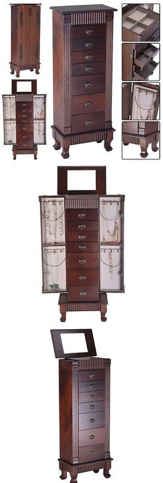 Jewelry Boxes 3820 Jewelry Armoire Chest Box Storage Cabinet Stand