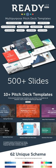 Startup Pitch Deck Template | Pitch, Template and Company profile