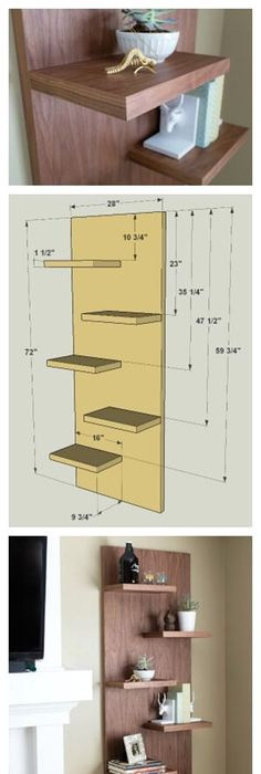 This is a design for a corner shelf made of plywood. | DIY projects ...