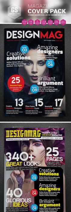 Magazine Cover Template 6   Magazine cover template