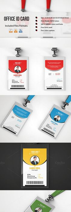 TemplateForIdentificationCard  Id Badge    Template