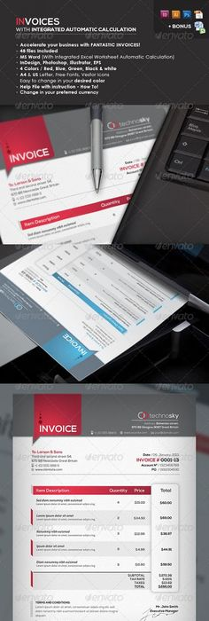 Icon Proposal Template w/ Invoice  Contract Proposal templates - Sample Contract Proposal Template
