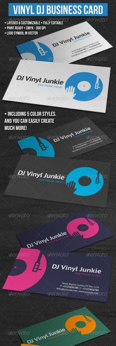 18 dj business cards free psd eps ai indesign word pdf vinyl dj business card colourmoves Images