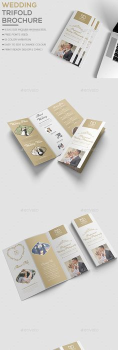 Wedding Brochure template Brochure template, Brochures and Template
