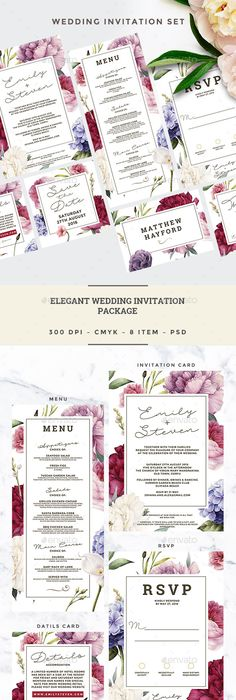 Passport Style Wedding Set Wedding set, Wedding invitation card - best of invitation template psd file