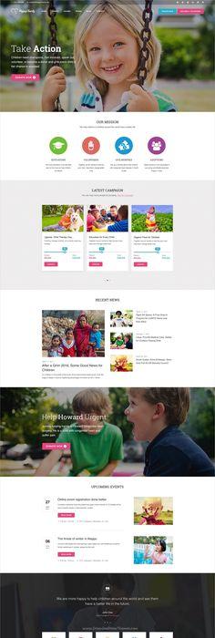 happycharity multipurpose nonprofit charity psd template organization websitesnonprofit