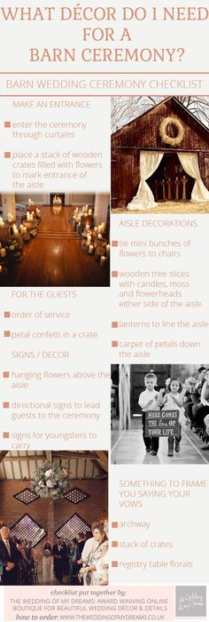 50+ Things Not to Forget at Your Wedding (CHECKLIST) Wedding