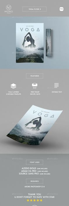 Yoga Flyer  Psd Templates Yoga And Template
