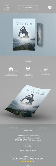 Yoga Flyer  Psd Templates Yoga And Template