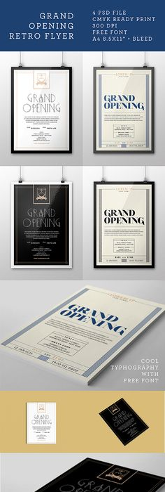 Grand Opening Flyers Vol By Kinzi Wij Via Behance  Flyer