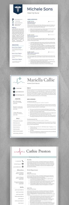 Modern Resume Template For Word  Pages  Professional Resume