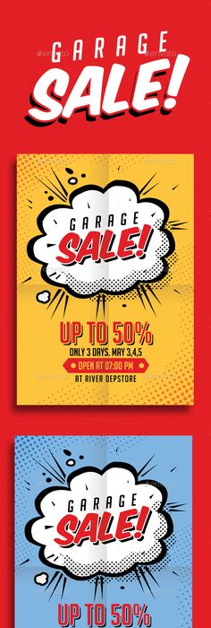 Vintage Garage Sale Flyer  Sale Poster Template And Flyer Printing