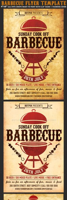 Bbq Flyer Template Psd Download Here Httpgraphicriveritem