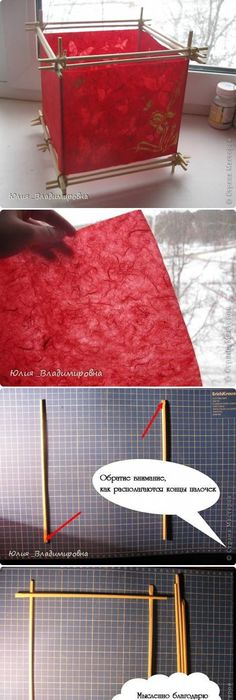 Another Example Of Red Being Used In A Lamp DIY Japanese Chinese Lantern Make