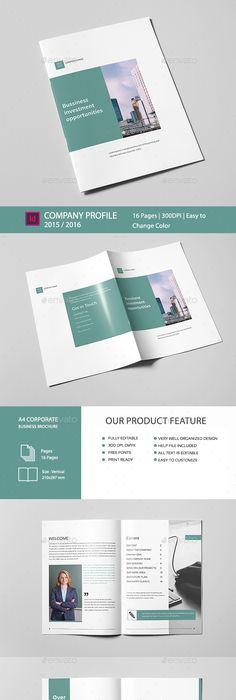 A5 Business Brochure Template Business Brochure Brochure Template