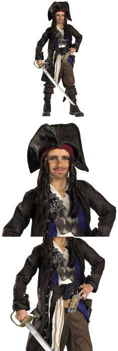 Boys 80913 Captain Jack Sparrow Costume Kids Deluxe Pirates Of The Caribbean Fancy Dress -  sc 1 st  Pinterest & Boys 80913: Pirate Costume Kids Halloween Fancy Dress -u003e BUY IT NOW ...