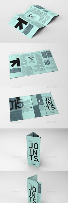 Realistic  Fold Brochure And Dl Envelope Mockup  Mockup