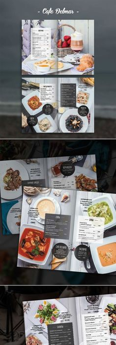 Beautiful Restaurant Cafe And Food Menu Designs For