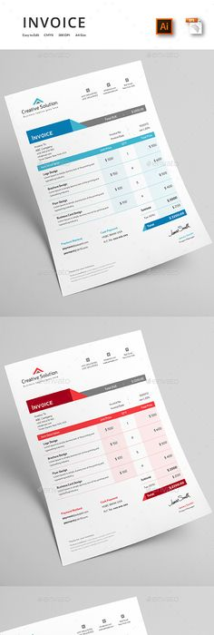 Invoice Excel  Template Corporate Design And Graphics