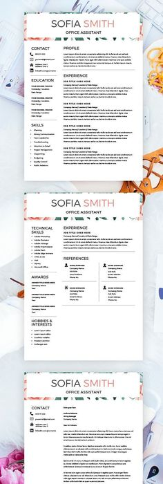 CV Template Creative Resume Template Two Page Professional CV + - Job Resume Format Download