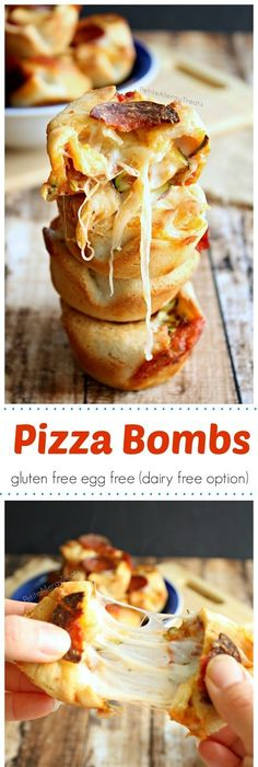 The easiest dairy free meal plan dairy free meals free meal pizza bomb bites gluten free egg free dairy free option pizza pockets filled with gooey cheese and vegetables food allergy friendly forumfinder Gallery