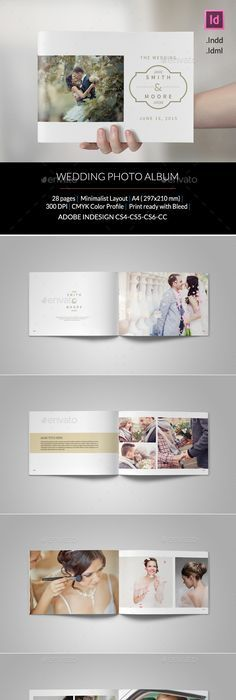 Family Or Baby Photo Album Template InDesign INDD | Wedding ...