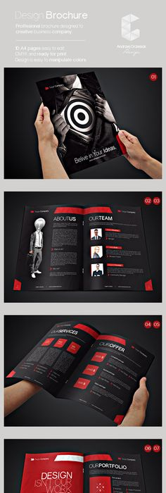 A  A Portfolio  Brochure Template Booklet Brochuredesign